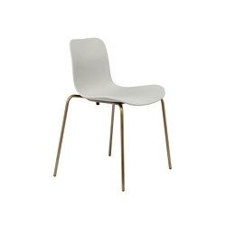 Langue Stack Dining Chair, Brass / Flint Grey | Chairs | NORR11
