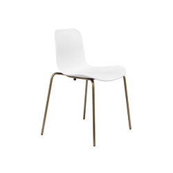 Langue Stack Dining Chair, Brass / Off White | Chairs | NORR11