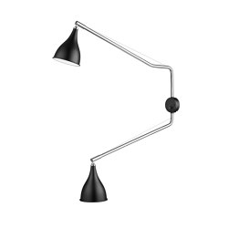 Le Six Double Arm, Black | Lámparas de pared | NORR11