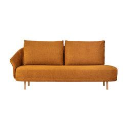 New Wave, Open-End, Left Armrest, Legs Natural, Linen Burned Orange 6 | Sofas | NORR11