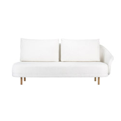 New Wave, Open-End, Right Armrest, Legs Natural, Barnum Off White 1 | Sofas | NORR11