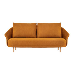 New Wave, Two-Seater, Legs Natural, Linen Burned Orange 6 | Sofas | NORR11