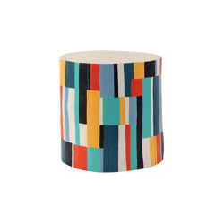 Color Block Hand Painted Log Table | Mesas auxiliares | Pfeifer Studio