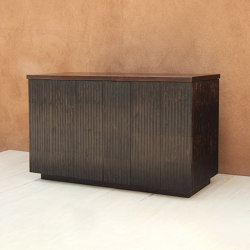 Rienzo Fluted Wood Cabinet | Credenze | Pfeifer Studio