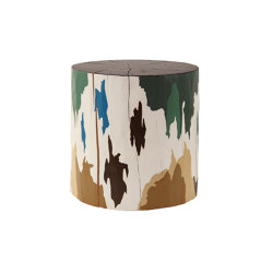 Terreno Hand Painted Log Table | Taburetes | Pfeifer Studio