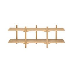 Zig Zag Media Shelf Oak | Shelving | Hem Design Studio