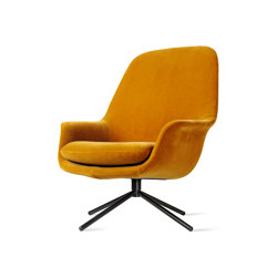 Smile Lounge High Back Metal Base | Armchairs | ICONS OF DENMARK