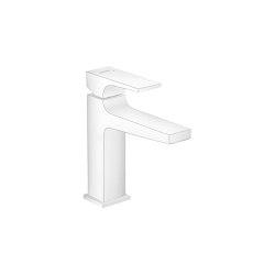hansgrohe Metropol Mezclador monomando de lavabo 110 con manecilla plana y vaciador Push-Open | Grifería para lavabos | Hansgrohe