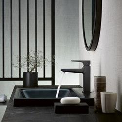 hansgrohe Metropol Mezclador monomando de lavabo 260 con manecilla plana y vaciador Push-Open | Grifería para lavabos | Hansgrohe