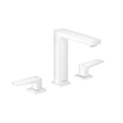 hansgrohe Metropol 3-hole basin mixer 160 with lever handles and push-open waste set   Wash basin taps   Hansgrohe