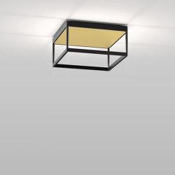 REFLEX² M 150 black | pyramid structure gold | Ceiling lights | serien.lighting
