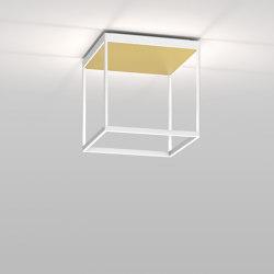 REFLEX² M 300 white | pyramid structure gold | Lampade plafoniere | serien.lighting