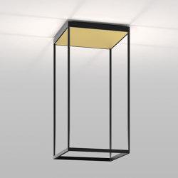 REFLEX² M 600 black   pyramid structure gold   Plafonniers   serien.lighting