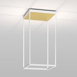 REFLEX² M 600 weiß   Pyramidenstruktur gold   Deckenleuchten   serien.lighting