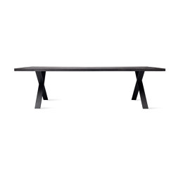 Achille dining table black X base | Dining tables | Vincent Sheppard