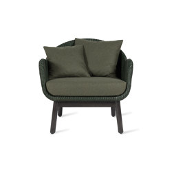 Alex lounge chair dark wood base | Armchairs | Vincent Sheppard