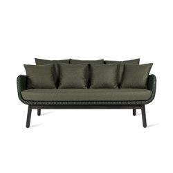 Alex lounge sofa dark wood base | Sofas | Vincent Sheppard