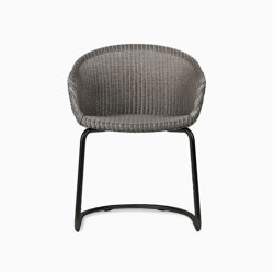 Avril dining chair black cantilever base | Chairs | Vincent Sheppard