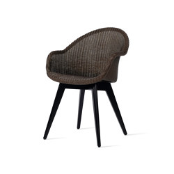 Avril HB dining chair black wood base | Sedie | Vincent Sheppard