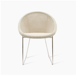 Gipsy dining chair stainless steel base | Sedie | Vincent Sheppard