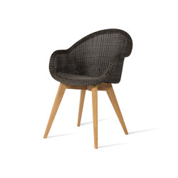 Edgard dining chair teak base | Sillas | Vincent Sheppard