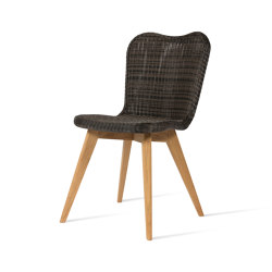 Lena dining chair teak base | Chairs | Vincent Sheppard
