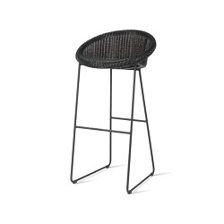 Joe bar stool black sled base | Taburetes de bar | Vincent Sheppard