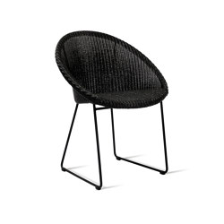 Joe dining chair black sled base | Chairs | Vincent Sheppard