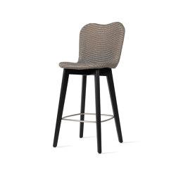 Lily counter stool black wood base | Barhocker | Vincent Sheppard