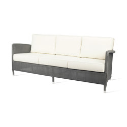 Outdoor Lloyd Loom Dovile lounge sofa 3S | Sofás | Vincent Sheppard