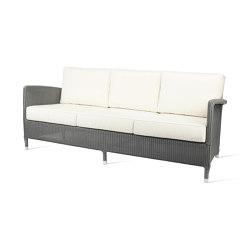 Outdoor Lloyd Loom Dovile lounge sofa 3S | Divani | Vincent Sheppard