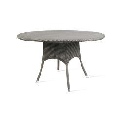 Outdoor Lloyd Loom Nîmes dining table dia 110 | Mesas comedor | Vincent Sheppard