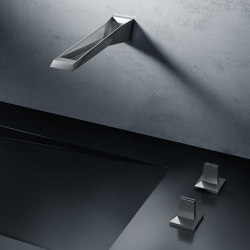 Allure Brilliant Icon 3D 3-hole wall-mount basin mixer | Wash basin taps | GROHE