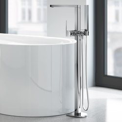 "Plus Single-lever bath mixer 1/2"", floor mounted 