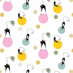 Cats Polka | Wall coverings / wallpapers | GMM