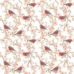 Cherry Blossom Sparrow | Revestimientos de paredes / papeles pintados | GMM