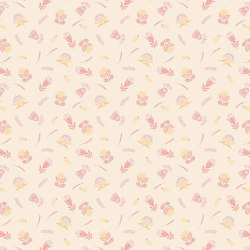 Exotic Scattered Flowers | Carta parati / tappezzeria | GMM