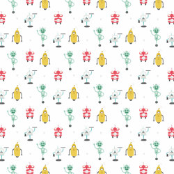 Robot Friends | Wall coverings / wallpapers | GMM