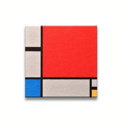 Komposition In Rot, Blau, Gelb | Sound absorbing wall objects | Findeisen