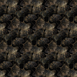 Ginko Leafs | Black Broadloom | Wall-to-wall carpets | moooi carpets
