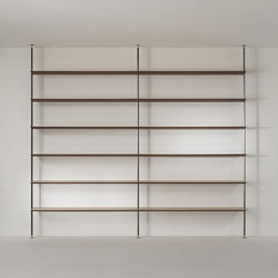 Shelving Floor To Ceiling Tensioned
