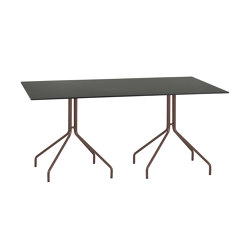 Weave |  Double leg table | Compact top | Dining tables | Point