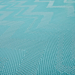 Missoni ZigZag Turquoise | Wall-to-wall carpets | Bolon