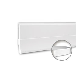 Interior mouldings - Skirting Profhome 153105F | Baseboards | e-Delux