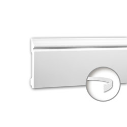 Interior mouldings - Skirting Profhome 153108F | Baseboards | e-Delux