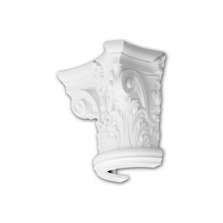 Interior mouldings - Capitel de media columna Profhome Decor 115001 | Listones | e-Delux