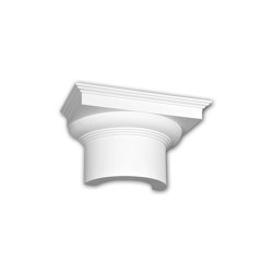 Interior mouldings - Capitel de media columna Profhome Decor 115005 | Listones | e-Delux