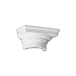 Interior mouldings - Capitel de media columna Profhome Decor 115008 | Listones | e-Delux