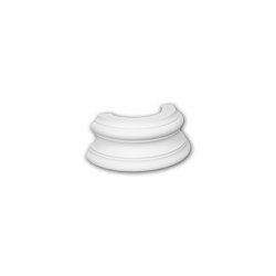 Interior mouldings - Half column base Profhome 117400 | Baseboards | e-Delux
