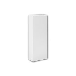 Interior mouldings - Half column base Profhome 117600 | Baseboards | e-Delux